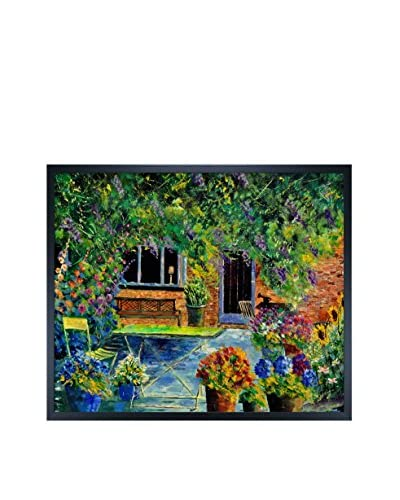 Pol Ledent Courtyard 79 Framed Canvas Print