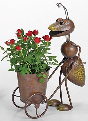 giardino-statuetta-formica-vaso-per-piante-in-metallo-h44-cm