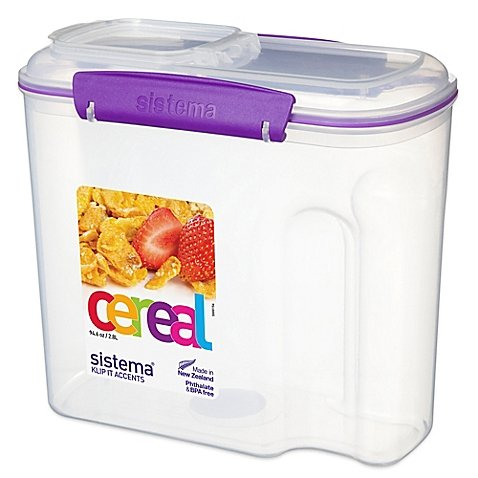 Sistema 12-Cup Cereal Container in Purple (G250 Foodsaver compare prices)