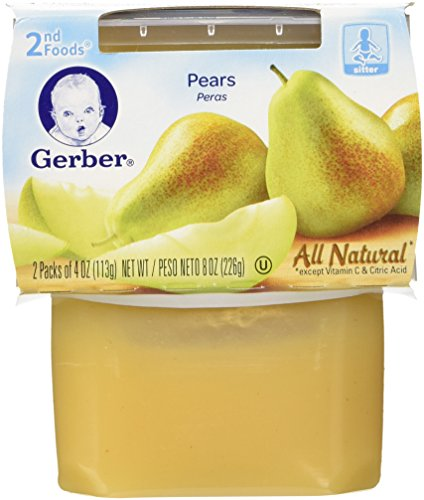 Gerber Purees 2nd Foods, Pears, 8 Ounce (Pack of 8)