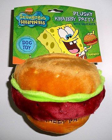 Sponge Bob Krabby Patty Squeak Toy