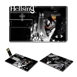 4GB USB Flash Drive USB 2.0 Memory Credit Card Size Anime Hellsing Comic Game Customized Support Services Ready Alucard-007