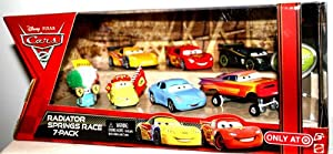 Disney Pixar Cars 2 Movie 7 Pack Set Radiator Springs 1:55 Scale Mattel Lewis Hamilton, Lightning Mcqueen Sally, Jeff Gorvette, at Sears.com