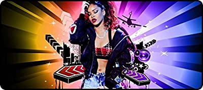 Hot Portable with Extended Rihanna Artwork Super Big Mousepads 900x400x3mm(35.43x15.75x0.12inch)