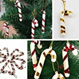 10pcs Christmas Small Candy Cane Home Party Tree Festival Ornaments