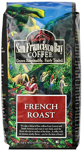 San Francisco Bay Coffee Whole Bean, French Roast, 12 Ounce (Pack Of 6)