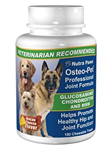 180ct Value Size Osteo-Pet Glucosamine Chondroitin for Dogs from Nutra Paws, Inc.