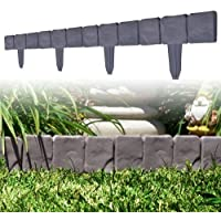 10-Piece TerraTrade Cobblestone Flower Bed Border