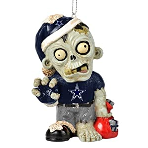 Dallas Cowboys NFL Zombie Christmas Ornament