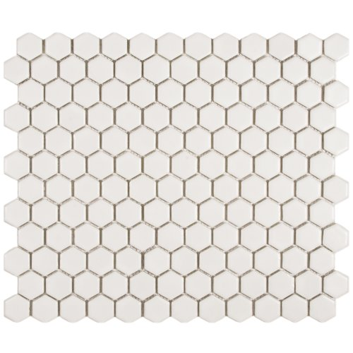 Retro Hex Matte White 10 1/4 x 11 3/4 Inch Porcelain Floor & Wall Tile (10 Pcs/8.4 Sq. Ft. Per Case, $1 Standard Shipping)