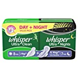 Whisper Ultra Clean Day and Night Pack - 15 Pads