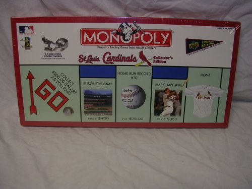 Monopoly St Louis Cardinals Collectors Edition at Amazon.com