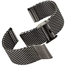 buy Geckota Classic Milanese Mesh Stainless Steel Watch Band Ip Antique Silver, 20Mm