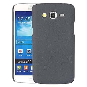 Chavanz Rubberised Matte Hard Case Back Cover For Samsung Galaxy Grand 2(Black)