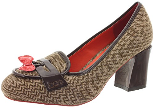 Dancing Days, Scarpe col tacco donna, marrone (Tweed marrone), 38 EU