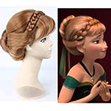 Princess Frozen Snow Queen Brown Anna Wig