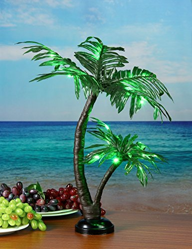 lightshare-24inch-25led-twins-palm-tree-bonsaigreen-lightbattery-powered-or-plug-in-adapter-not-incl