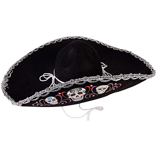 Day of the Dead Sugar Skull Deluxe Sombrero