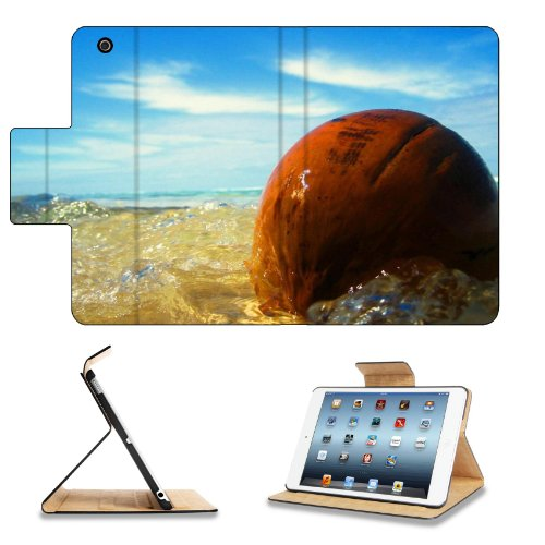 Ocean Waves Washing Over Stone Apple Ipad Mini Retina Display Flip Case Stand Smart Magnetic Cover Open Ports Customized Made To Order Support Ready Premium Deluxe Pu Leather 8 Inch (205Mm) X 5 1/2 Inch (140Mm) X 11/16 Inch (17Mm) Msd Ipad Mini Retina 2 P front-575967