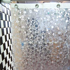 dopobo small stones peva shower curtain bathroom bath