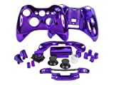 YHG Replacement Parts for Chrome Xbox 360 Controller Shell [Purple]