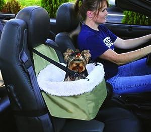 Pet Booster Seat w/ Sheepskin Faux Lining