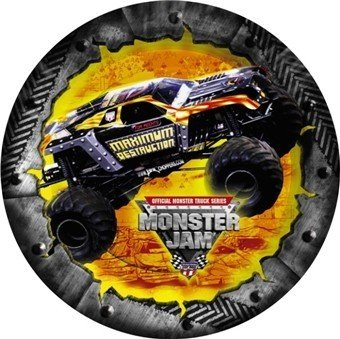 Monster Jam Dessert Plates 8ct - 1