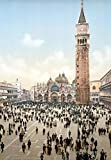 PC09 Vintage Photograph Piazza San Marco Venice Italy Poster Art Re-Print - A4 (297 x 210mm) 11.7