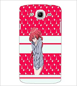 PrintDhaba Cute Girl D-3837 Back Case Cover for SAMSUNG GALAXY MEGA 5.8 (Multi-Coloured)