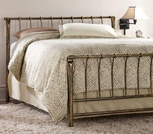 Marquette Bed, KING, ANTIQUE BRASS