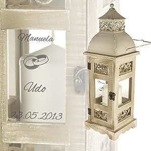 romantische hochzeitslaterne mit gravur im antik look. Black Bedroom Furniture Sets. Home Design Ideas