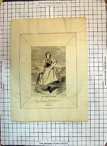 Mujer Alemana 1868 de la Impresión de la Moda del Traje De Moldavia Antiguo del Vestido