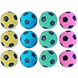 PETFAVORITES™ Foam Soccer Balls Cat Toys - Pack of 12