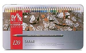 Caran d'Ache Pablo Colored Pencil Set Of 120 Metal Box (666.420) (Color: Multi, Tamaño: not assigned)