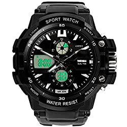Skmei Sports Chronograph Analog - Digital Black Dial Mens Watch - AD0990