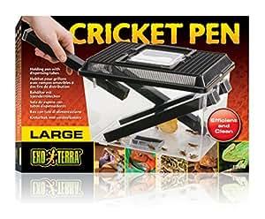 Exo Terra PT2287 Cricket Box Pflegeset für Grillen mit 3 Röhren und 2 Schwämme