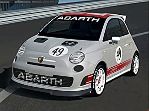 Amazon.com: Fiat Abarth windscreen sun stripe decal (white Ð black