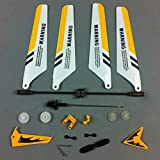 Kit de Remplacement pour Syma S107 / S107G RC - Hélicoptère, Pales, Décorations de Queue, Lame de Queue, Balance Bar, Connect Buckle, Inner Shaft - Jaune