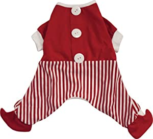 Dogit Christmas Santa Dog Pyjama, Large, Red