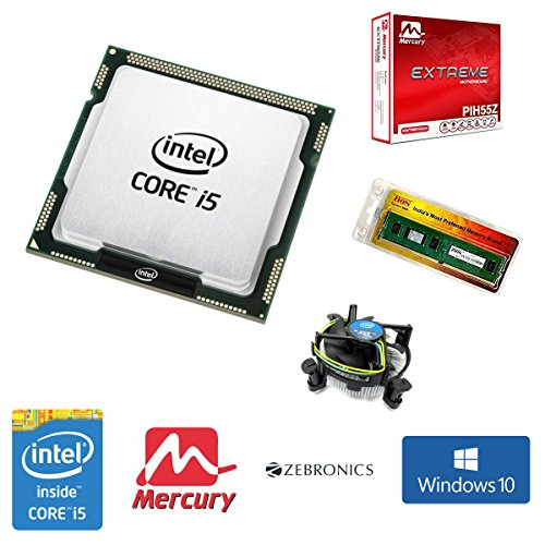 Intel Core I5 660 3.60 GHz Processor + 4GB DDR3 Ram + Mercury / Zebronics H55 Motherboard + CPU Fan + Windows 10 Pro With GST Invoice