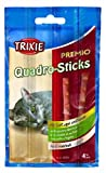 Trixie PREMIO Quadro-Sticks Anti-Hairball, Poultry/Liver 3 Packs - 4 sticks per pack - a tasty treat for any cat