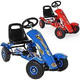 TecTake Go Kart Coche con Pedales - disponible en diferentes colores - (Azul | No. 401031)