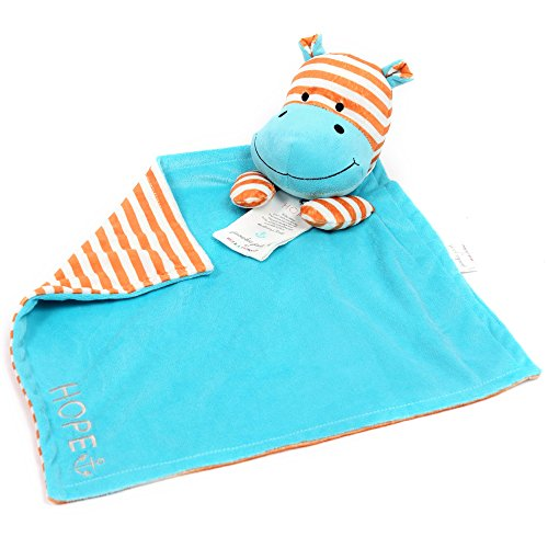 Bella Tunno Poetic Plush Lovey Blanket, Hope Hippo