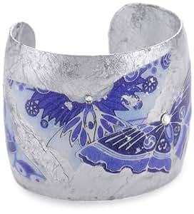 "ÉVOCATEUR ""The Gardens"" Blue Metropolitan Butterfly Cuff Bracelet"