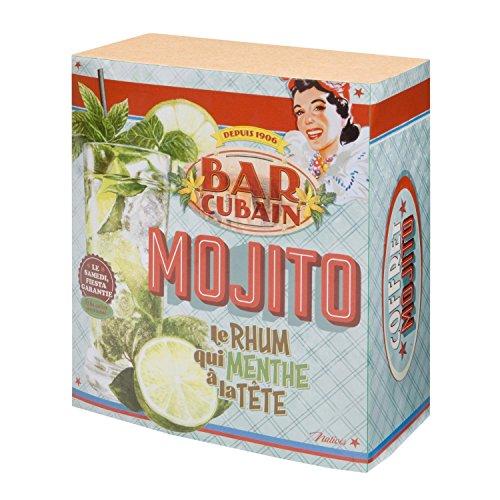 Coffret Kit À Mojito BAR CUBAIN - Verres À Cocktail Touilleurs Pailles Larges