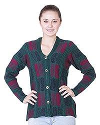 Pazaro Women's Blended Cardigan (RB05-GRN_P, Green, XL)