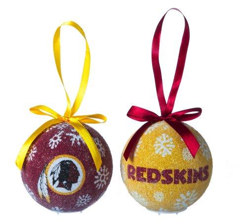 Washington Redskins Boxed Led Ornament Set