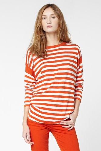 Long Sleeve Lightweight Stripe Boatneck Sweater
