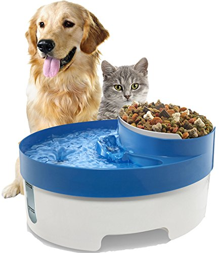 3 in 1 Water Fountain For Cat Dog Automatic Food Bowl Dish Feeder Dispenser (Dog Water Dispenser 1 2 Gallon compare prices)
