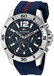 Tommy Hilfiger Mens 1791142 Cool Sport Analog Display Quartz Blue Watch